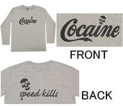 画像1: COCAINE 長袖Tシャツ
