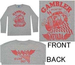 画像1: GAMBLER 長袖Tシャツ