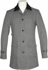 Chambray Coat/Black Collar