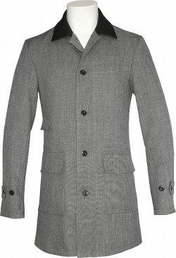 画像1: Chambray Coat/Black Collar